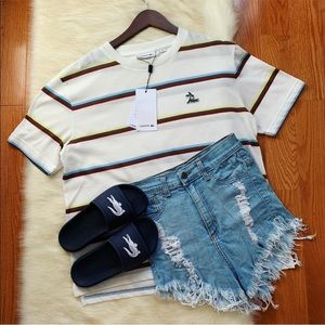Lacoste Oversize Summer Stripe Tee